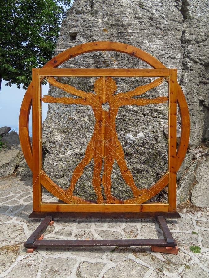 圣马力诺-达芬奇金黄比率 库存照片