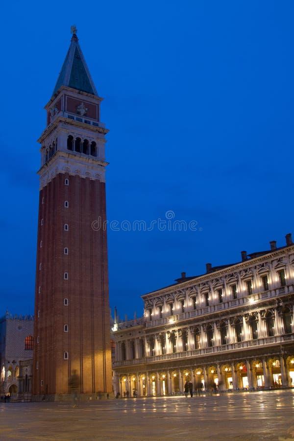 圣马可广场钟楼威尼斯 免版税库存照片