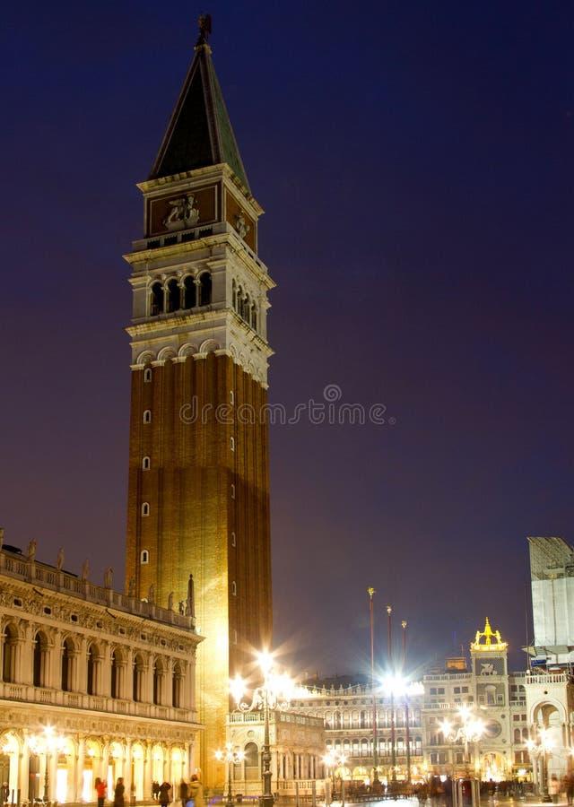 圣马可广场钟楼威尼斯 免版税库存图片
