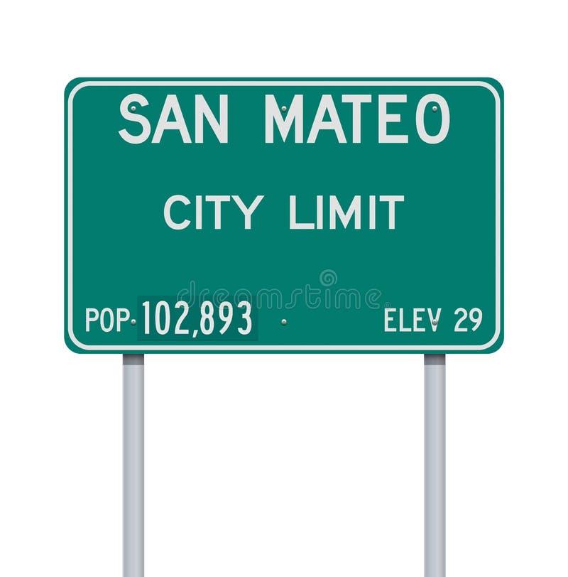 圣马特奥市区范围路标 免版税库存照片