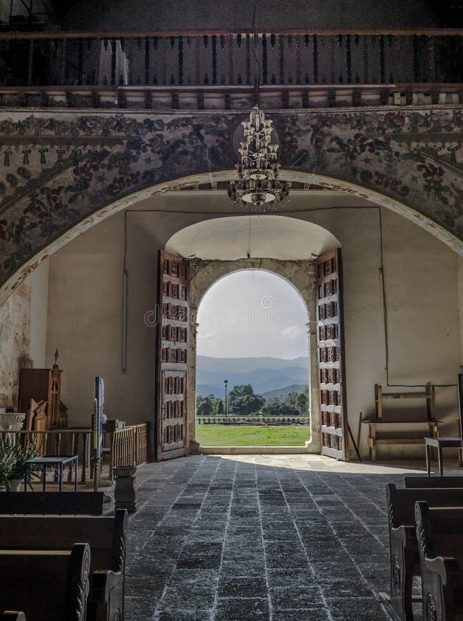 圣马特奥教区  Capulalpam de门德斯 瓦哈卡,墨西哥 库存照片