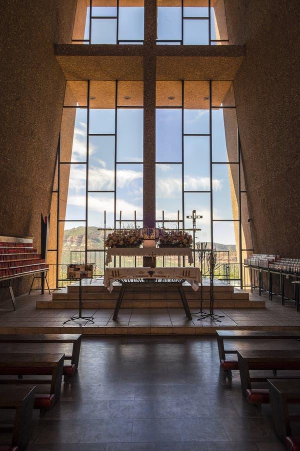 圣洁交叉的教堂 库存图片