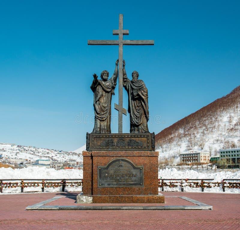 圣洁传道者彼得和保罗的纪念碑 免版税库存照片