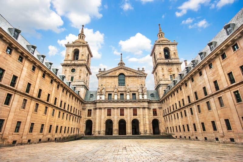 圣洛伦佐de在马德里,西班牙附近的El埃斯科里亚尔修道院  库存图片