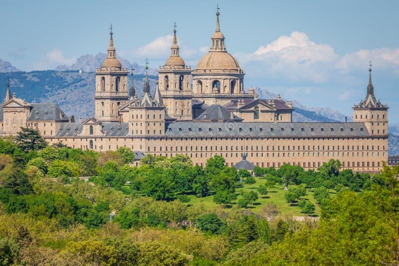 圣洛伦索德埃莱斯科里亚尔皇家位子,历史住所 库存照片
