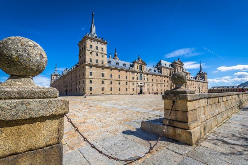 圣洛伦索德埃莱斯科里亚尔皇家修道院在马德里,西班牙附近的 库存照片