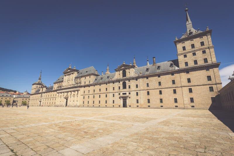 圣洛伦索德埃莱斯科里亚尔皇家修道院在马德里,西班牙附近的 免版税库存图片
