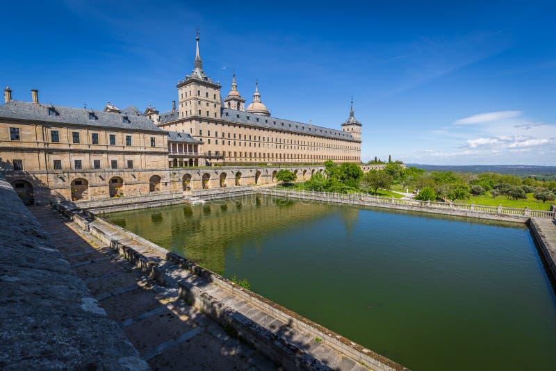 圣洛伦索德埃莱斯科里亚尔皇家修道院在马德里,西班牙附近的 图库摄影