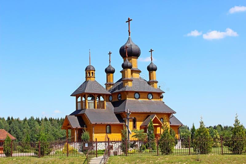 圣洁先知圣若翰洗者的寺庙在Dudutki 库存图片