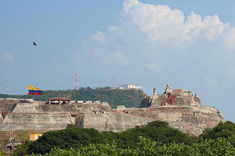 圣费利佩De巴拉哈斯城堡  免版税库存照片