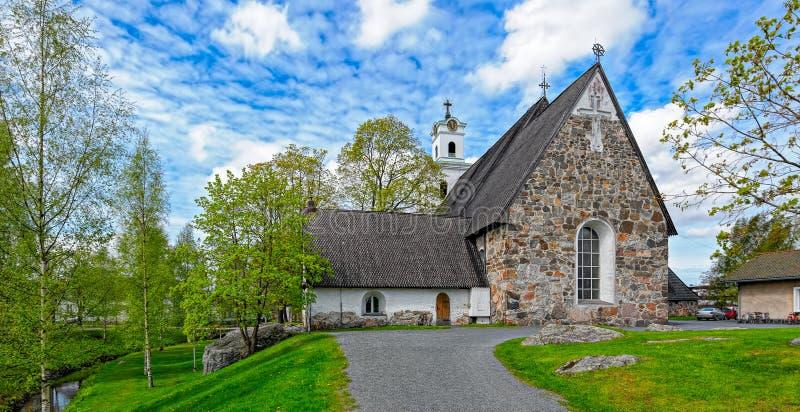 圣洁十字架的教会在劳马,芬兰 库存照片