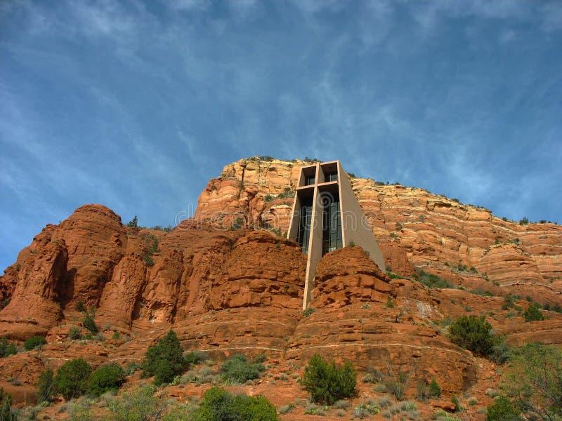 圣洁十字架的教堂在Sedona,亚利桑那 库存照片