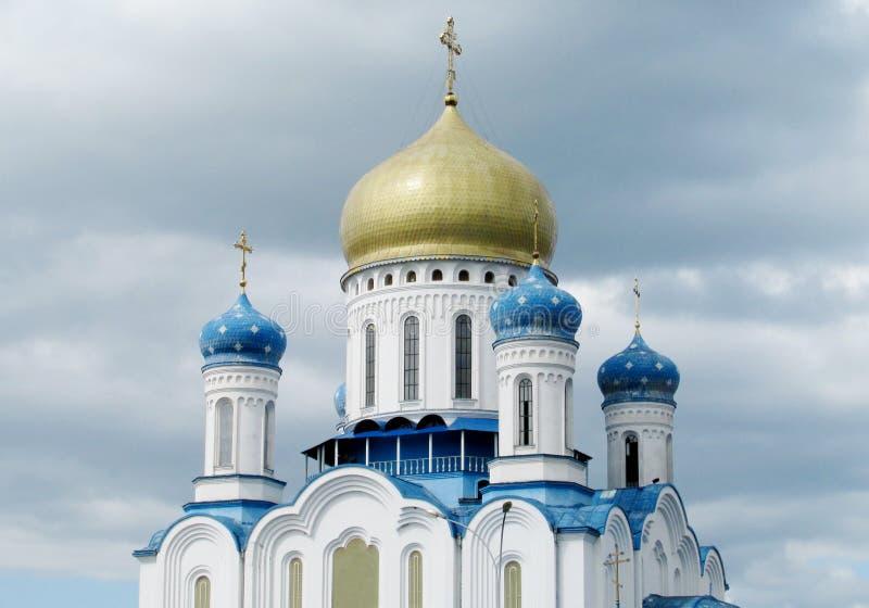 圣洁十字架的正统大教堂在Uzhorod 库存图片