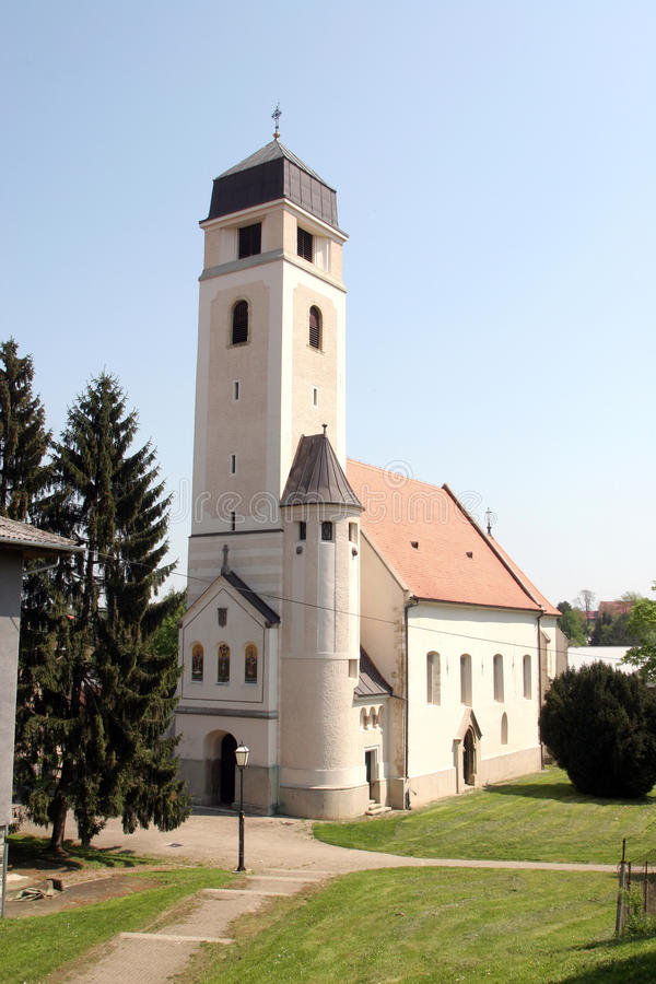 圣洁十字架, Krizevci教会  库存照片