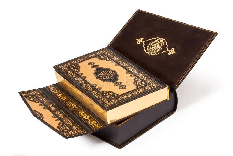 圣洁古兰经书-裁减路线 库存照片