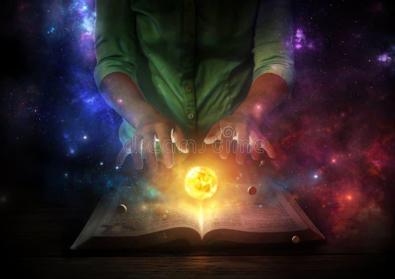 圣经和宇宙 库存图片