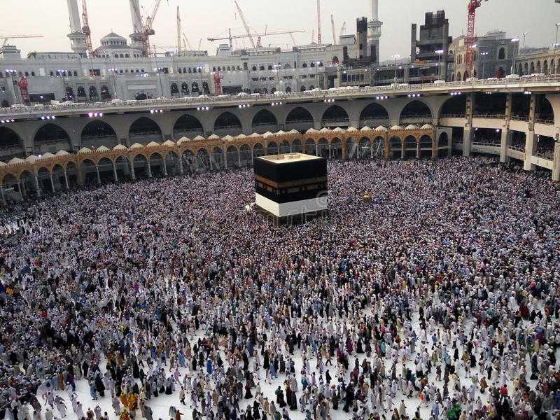 圣洁圣堂, Makkah,沙特阿拉伯 库存图片