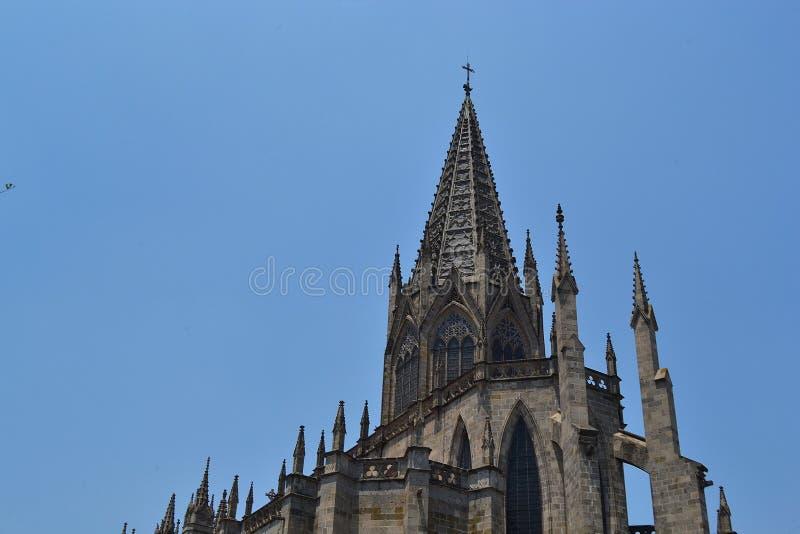 圣洁圣礼瓜达拉哈拉,墨西哥的寺庙的上面 库存图片