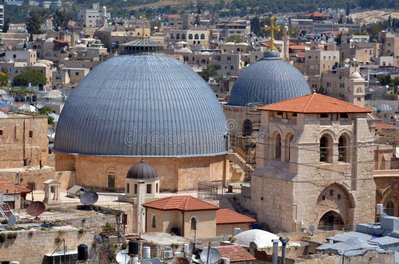 圣洁坟墓教会在老市耶路撒冷,以色列 免版税图库摄影