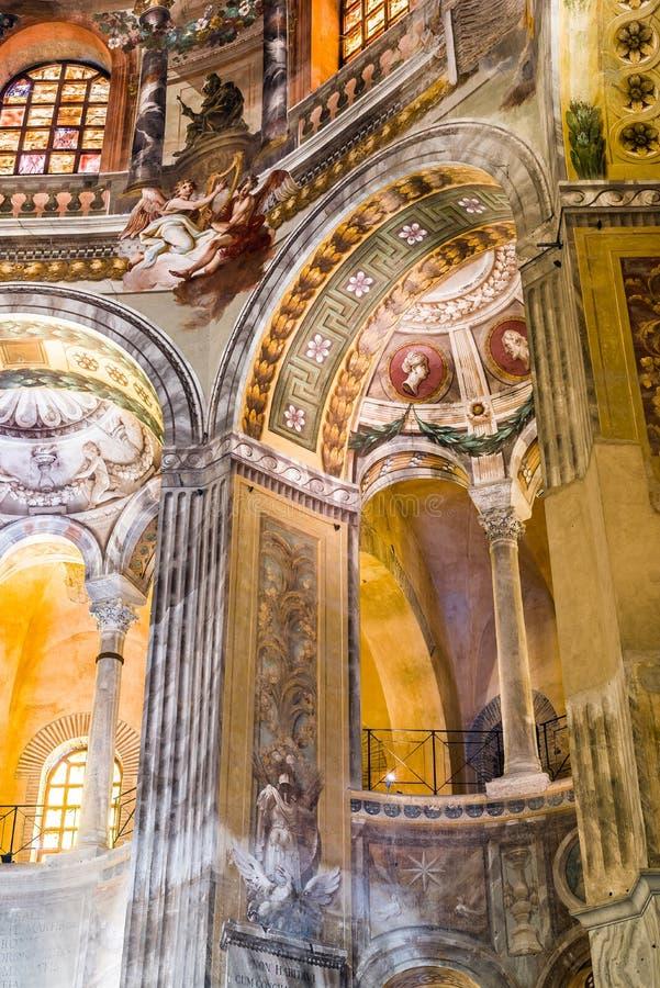 圣维塔利大教堂在拉韦纳,伊米莉亚罗马甘 意大利 库存照片