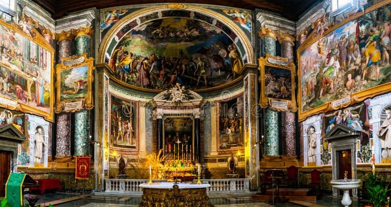 圣维塔利大教堂在罗马,意大利 库存照片