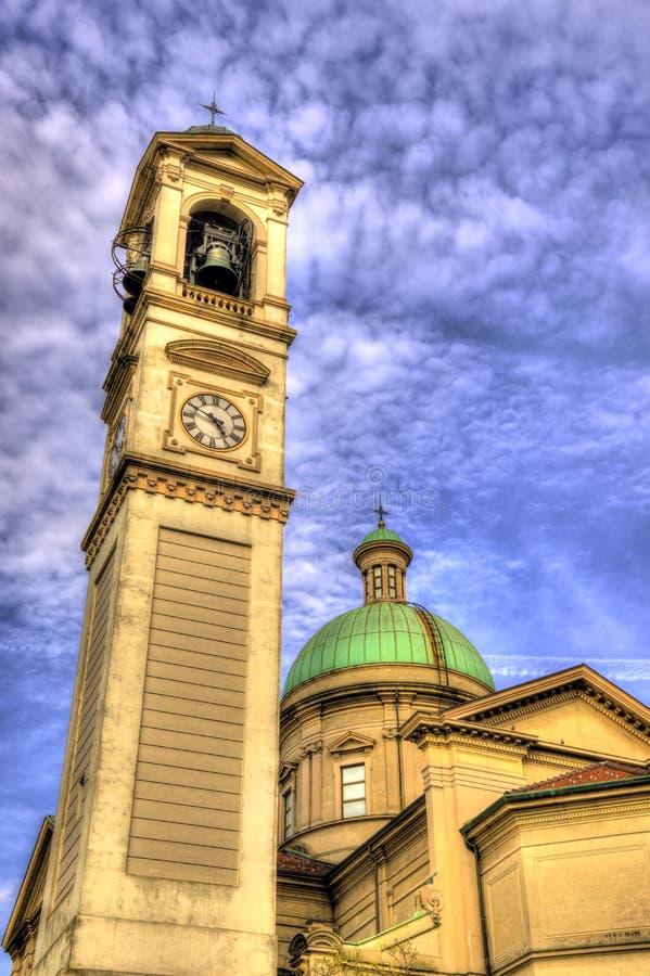 圣维塔利教会在Chiasso 库存图片