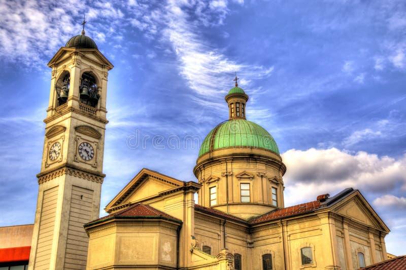 圣维塔利教会在Chiasso 免版税库存图片