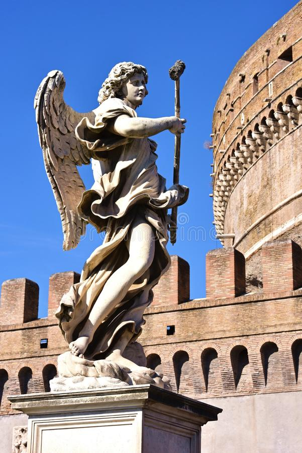 圣洁天使的城堡,罗马 免版税图库摄影