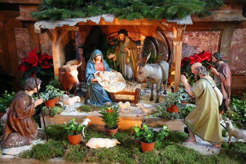 圣洁家庭孩子耶稣,圣母玛丽亚和圣若瑟 免版税库存照片