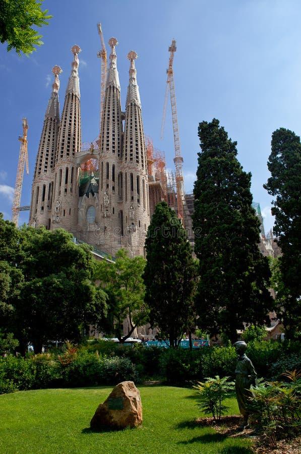 圣洁家庭的大教堂在巴塞罗那 库存图片