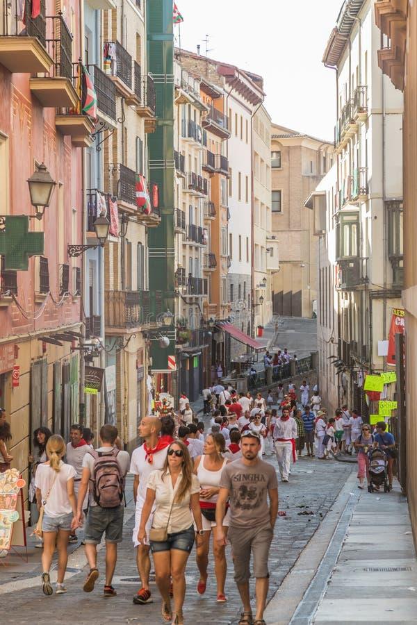 圣费尔明在潘普洛纳,西班牙 免版税库存照片
