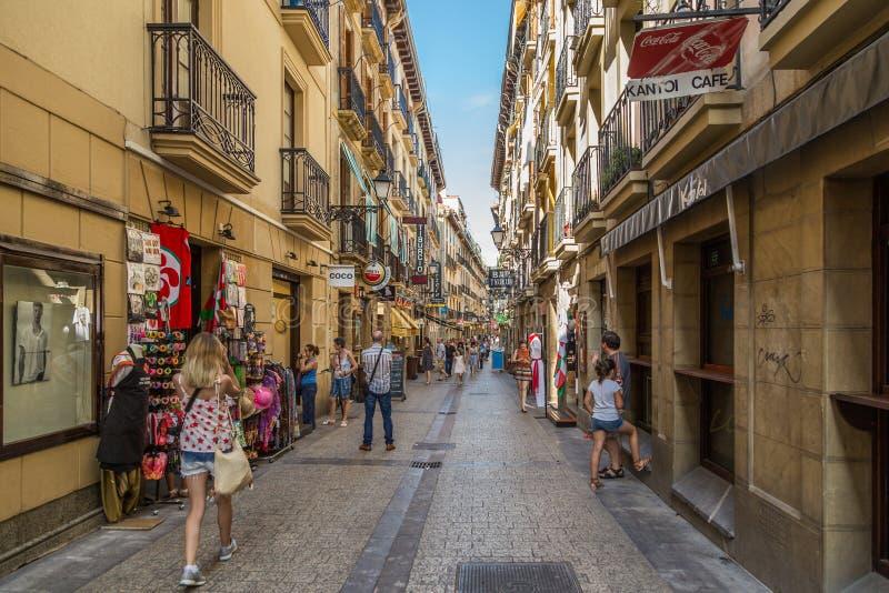 圣费尔明在西班牙 库存图片