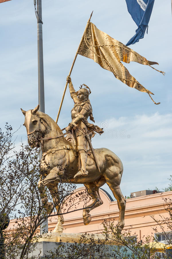 圣贞德雕象纪念碑在新奥尔良,路易斯安那 免版税库存图片