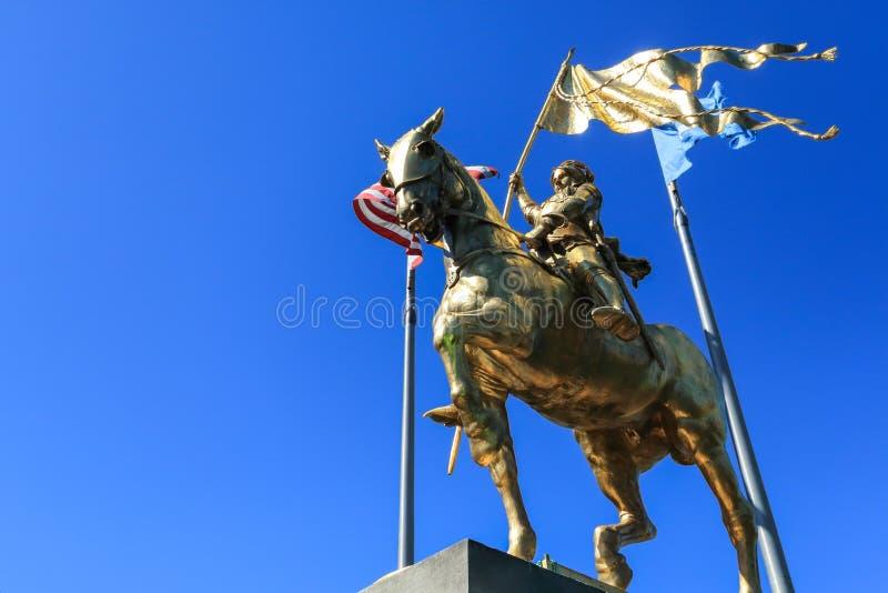 圣贞德雕象,新奥尔良, LA 免版税库存图片