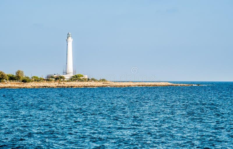 圣维托洛卡波,西西里岛,意大利灯塔  免版税库存图片