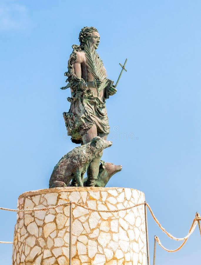 圣维托Martire,渔夫的保护雕象  免版税库存照片