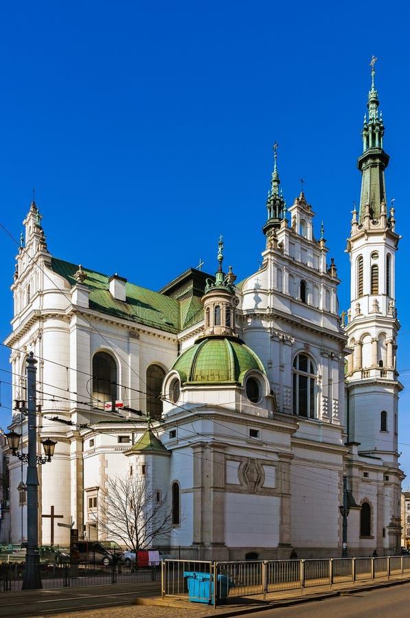 圣洁救世主的教会在华沙 免版税库存图片