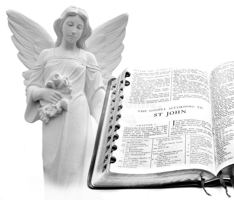 圣经新约圣约翰天使 图库摄影