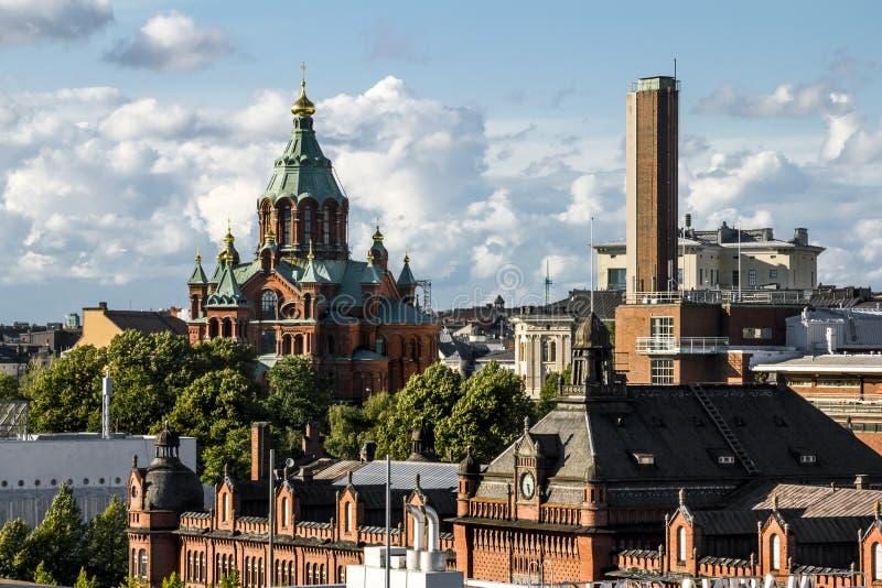圣洁正统Uspensky大教堂在赫尔辛基 芬兰 免版税库存图片