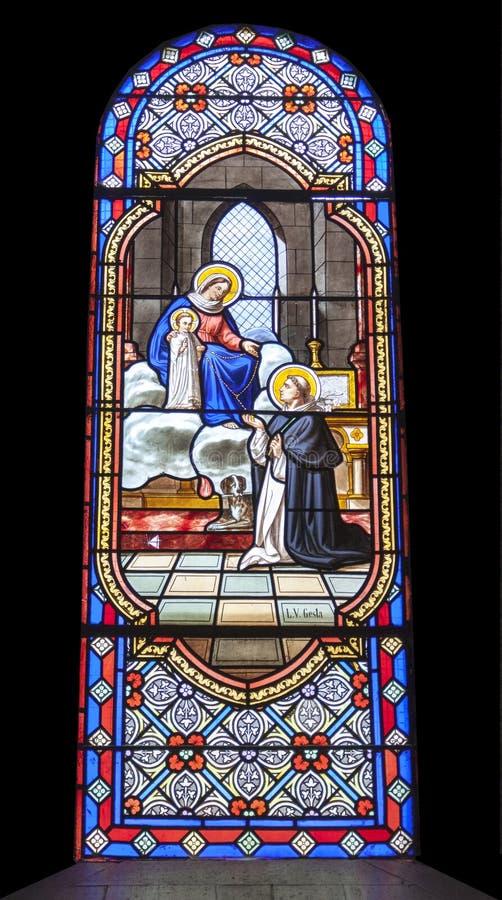 圣洁玛丽和孩子耶稣 库存图片