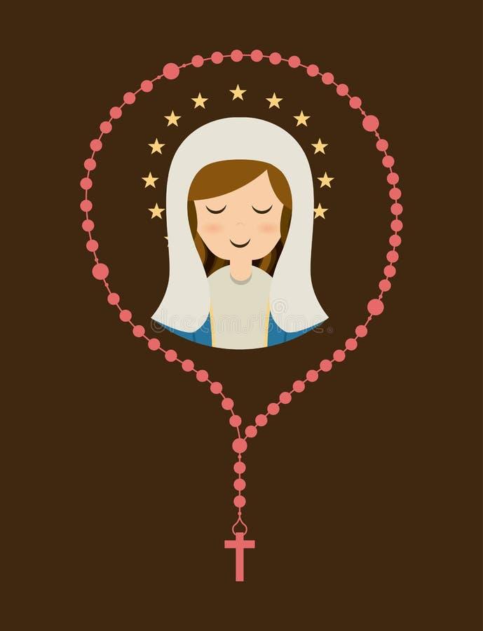 圣洁玛丽设计 皇族释放例证