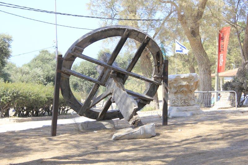 圣经的亚实基伦古城在以色列 免版税库存照片