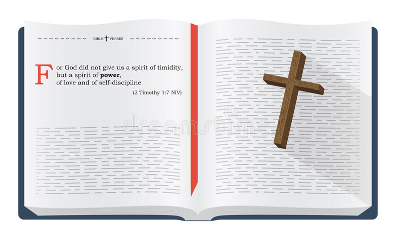 圣经研究的圣经诗歌 库存例证