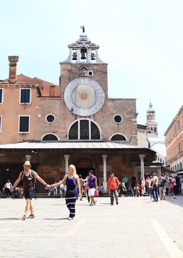 圣贾科莫di Rialto教会  免版税图库摄影