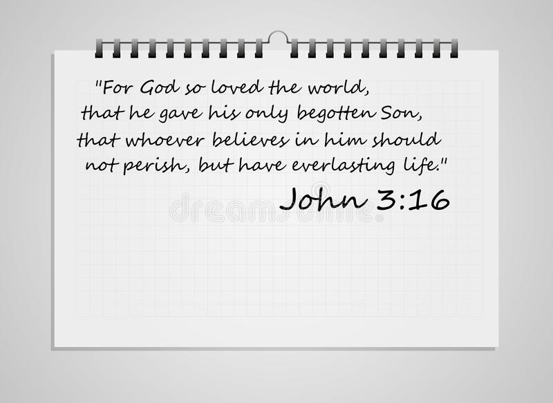 圣经诗歌 库存例证