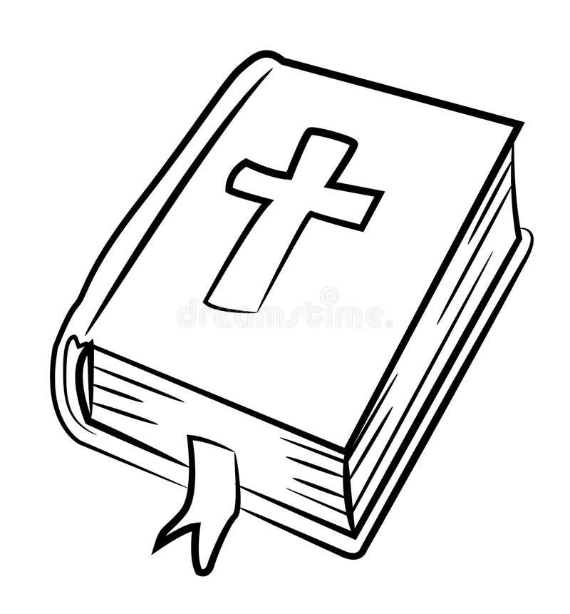圣经象的动画片图象 宗教标志 向量例证
