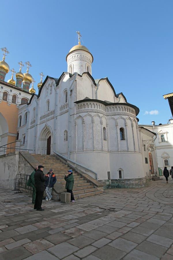 圣洁长袍证言教会,克里姆林宫 库存图片