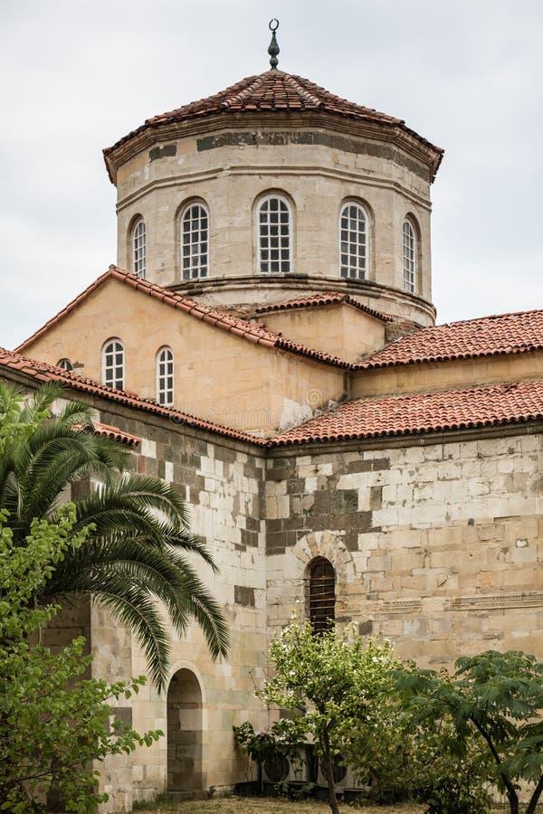 圣索非亚大教堂教会在特拉布松,土耳其 库存图片