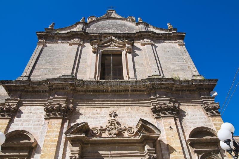 圣Benedetto教会。Massafra。普利亚。意大利。 免版税库存照片