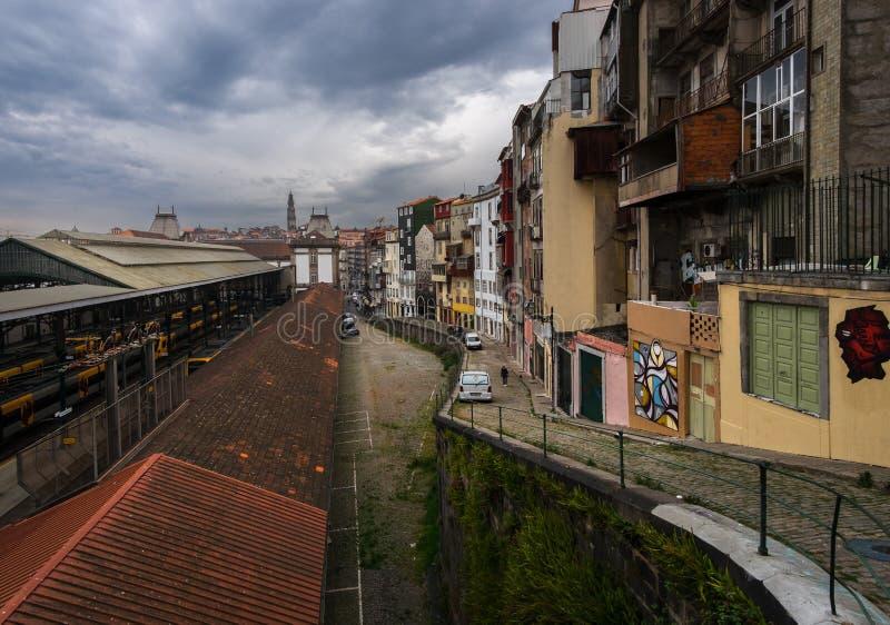 圣Bento驻地 市的看法波尔图 免版税库存图片
